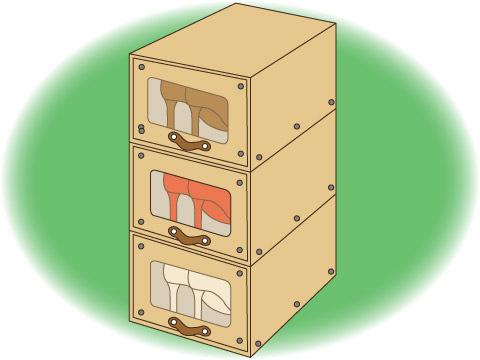 積み重ね式シューズボックス