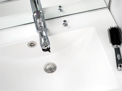 洗面台の排水不良