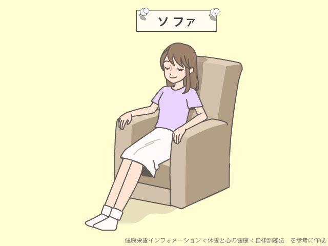 自律訓練法のソファ