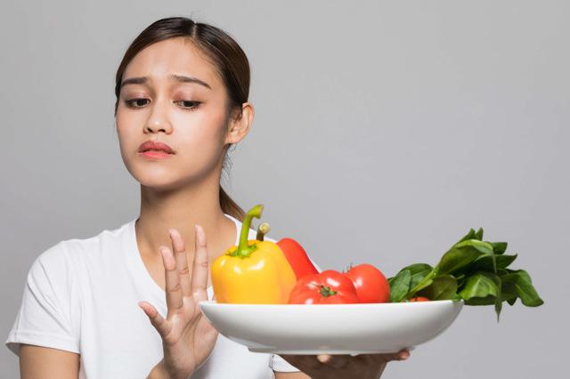 偏食による肉体的なストレスのイメージ