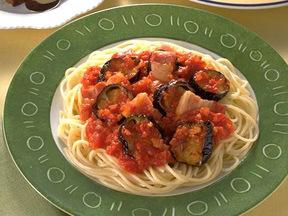 ナスのトマトスパゲッティ