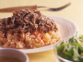 牛肉のトマトご飯