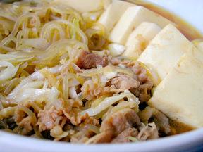 牛肉と豆腐のすき煮