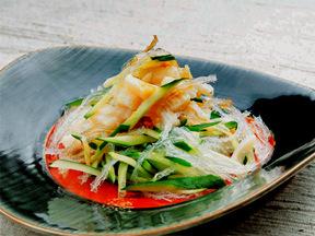 ホタテと糸寒天の中華サラダ