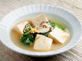 木綿豆腐とチンゲンサイのスープ煮