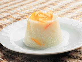 マーマレード風味のヨーグルト寒天ゼリー