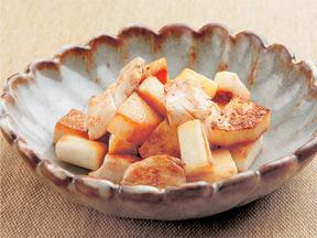長芋と鶏ささみのバター醤油