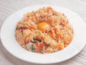 サケのビビンバ風(韓国風混ぜご飯)