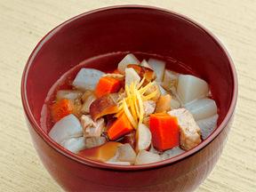 根菜の具だくさんスープ