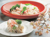 紅白長芋のそぼろ寿司