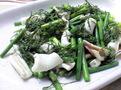 イカとニンニクの芽の炒め物