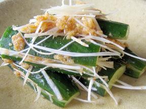 キュウリの韓国風簡単漬物