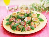春野菜のハート型シュウマイ