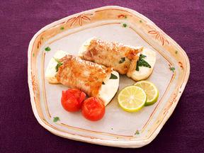 豆腐の豚巻きステーキ