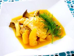 鶏肉とエリンギのオレンジ煮