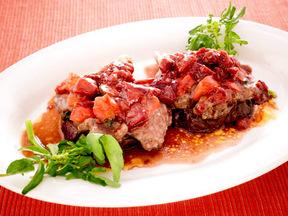 ラム肉と野菜の蒸し焼き