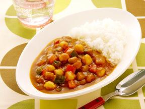 圧力鍋で簡単!豆のカレーライス