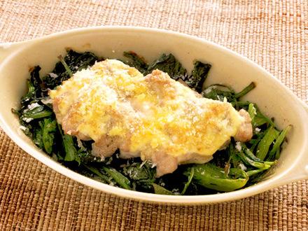 鶏肉とホウレンソウのマヨネーズ焼き