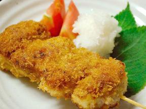 串カツ(豚肉とタマネギのフライ)
