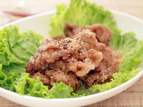 ニンニクしょうゆ漬け豚肉の竜田揚げ