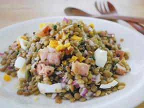 ベーコンとレンズ豆のサラダ