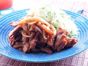 豚ヒレ肉の梅風味生姜焼