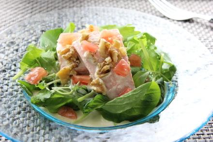 コールドサーモンのサラダ