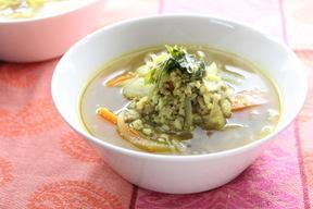 雑穀のカレースープ