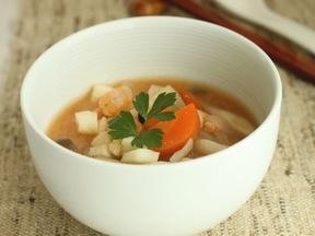 辛味噌魚介のスープ