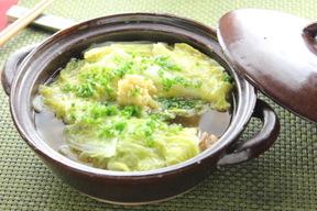 白菜の重ね煮ショウガあんかけ