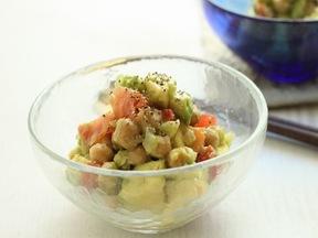 ひよこ豆とアボカドのサラダ