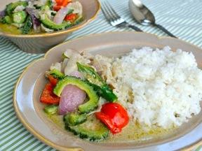 豚肉と夏野菜のグリーンカレー