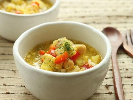 角切り野菜のマイルドスープ