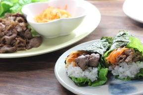 焼き肉手巻き寿司