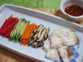 白身魚の冷菜