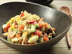 豆とフレッシュ野菜のサラダ