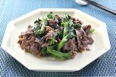 牛肉と菜の花の中華炒め
