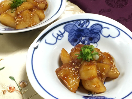 ジャガイモのコチュジャン炒め煮
