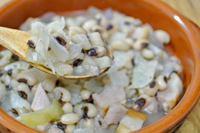 黒目豆のスープ煮込み