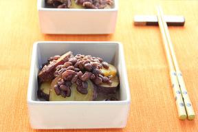 あずきとサツマイモの煮物