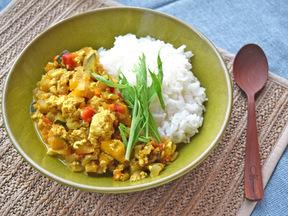野菜と豆腐のキーマカレー