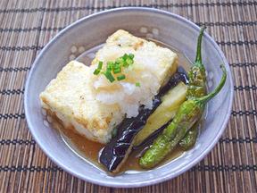 豆腐と夏野菜野の揚げだし