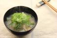 白菜のショウガ味噌汁