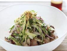 蒸し焼きビーフの野菜のせ