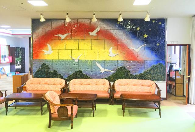 1階 ロビーの壁画