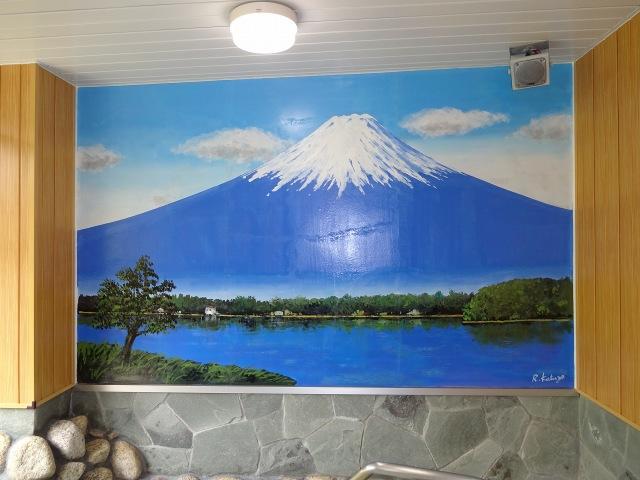 富士山の絵画(大浴場内)