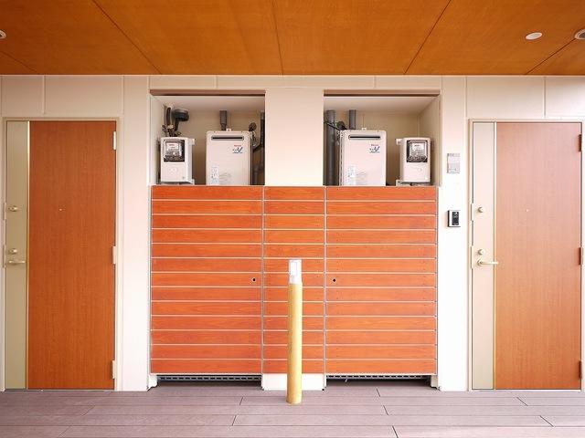 住戸入り口扉とMB部分