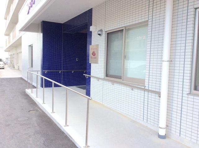 玄関前スロープ