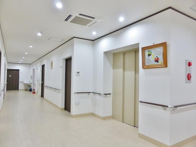 館内 廊下 エレベーター