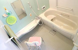 各階に設置してある浴室です
